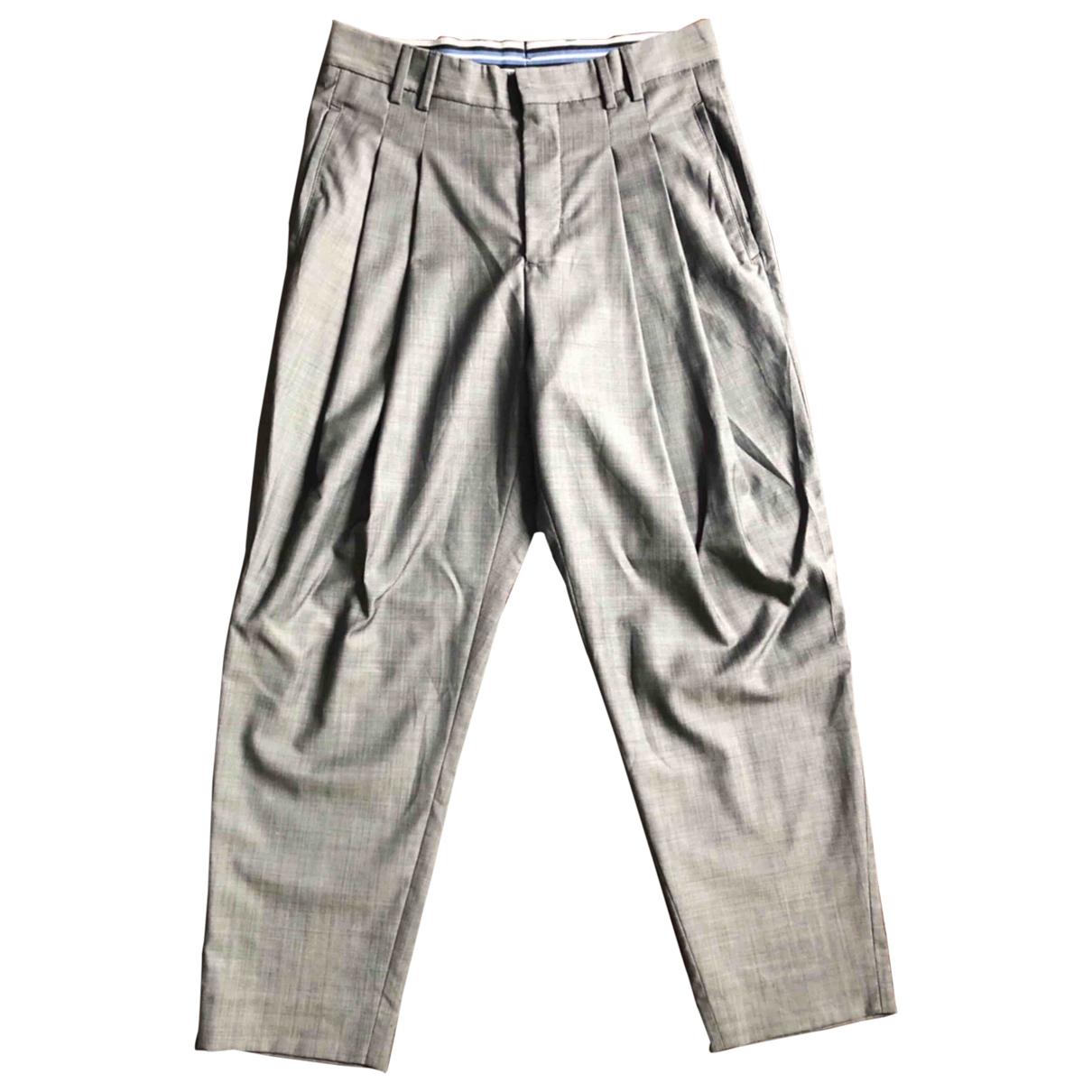 Zara \N Grey Cotton Trousers for Men 28 UK - US