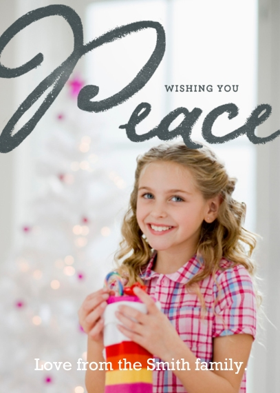 Holiday Photo Cards 5x7 Cards, Premium Cardstock 120lb, Card & Stationery -Peace on Earth