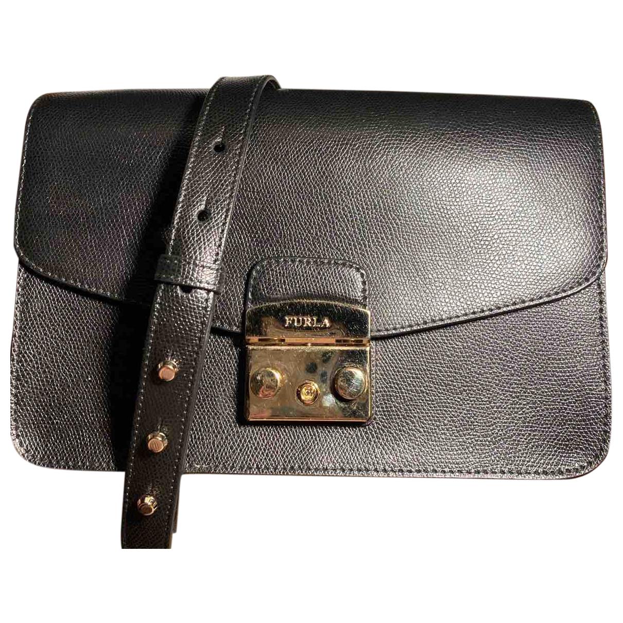Furla Metropolis Black Leather Clutch bag for Women \N