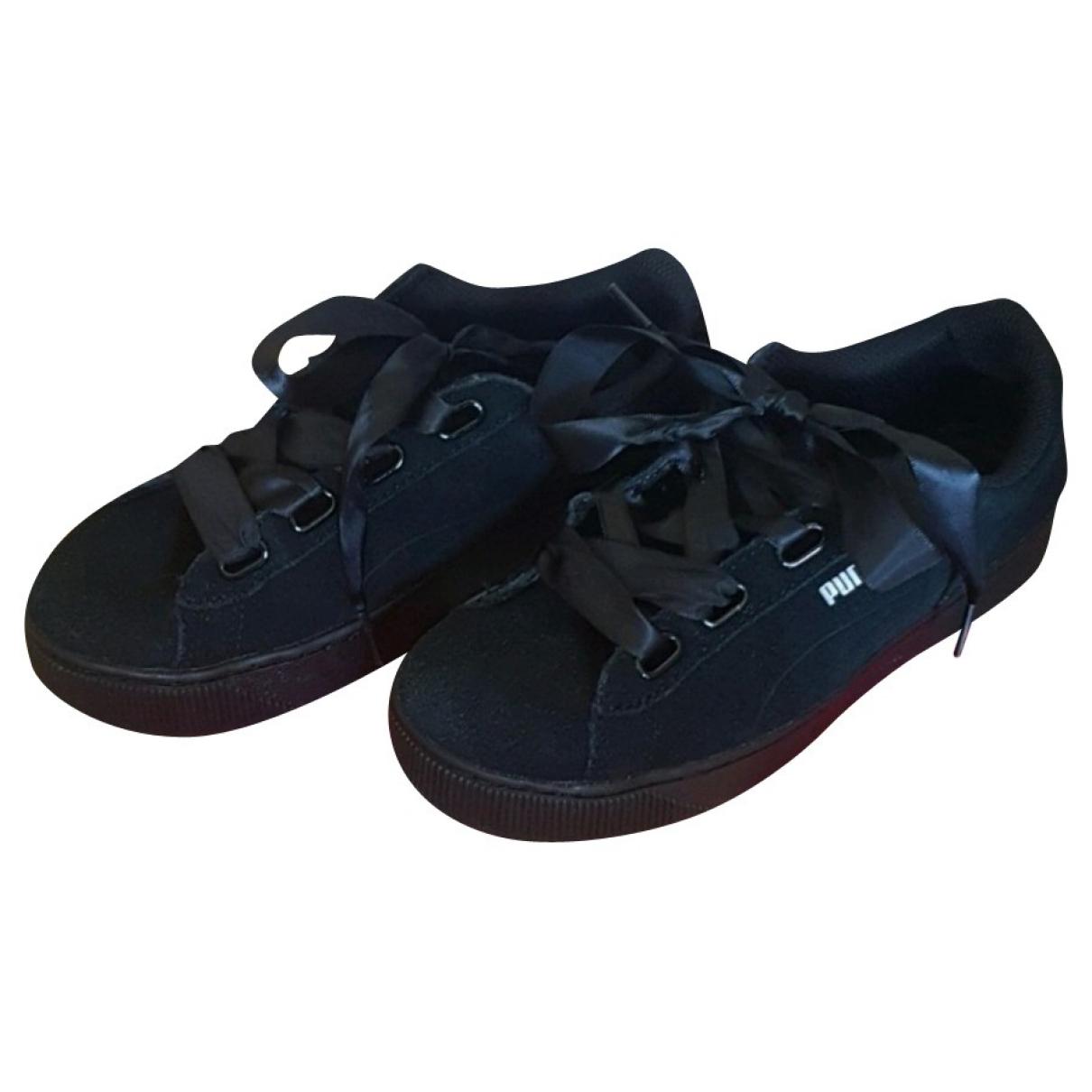Puma \N Sneakers in  Schwarz Samt