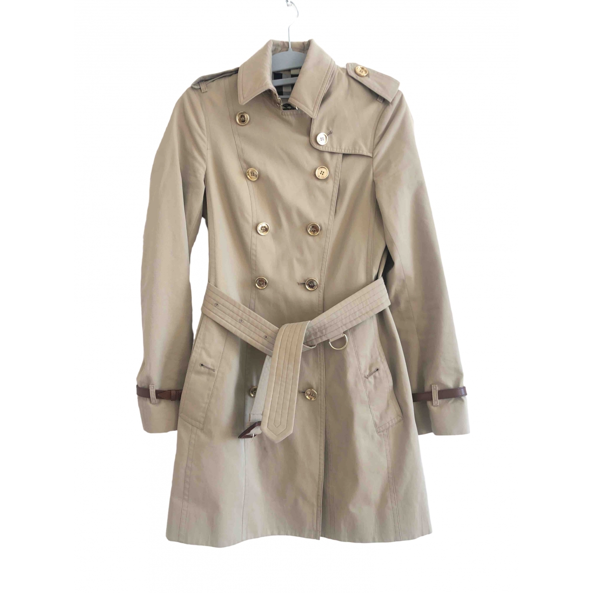 Burberry \N Beige Cotton Trench coat for Women 32 FR