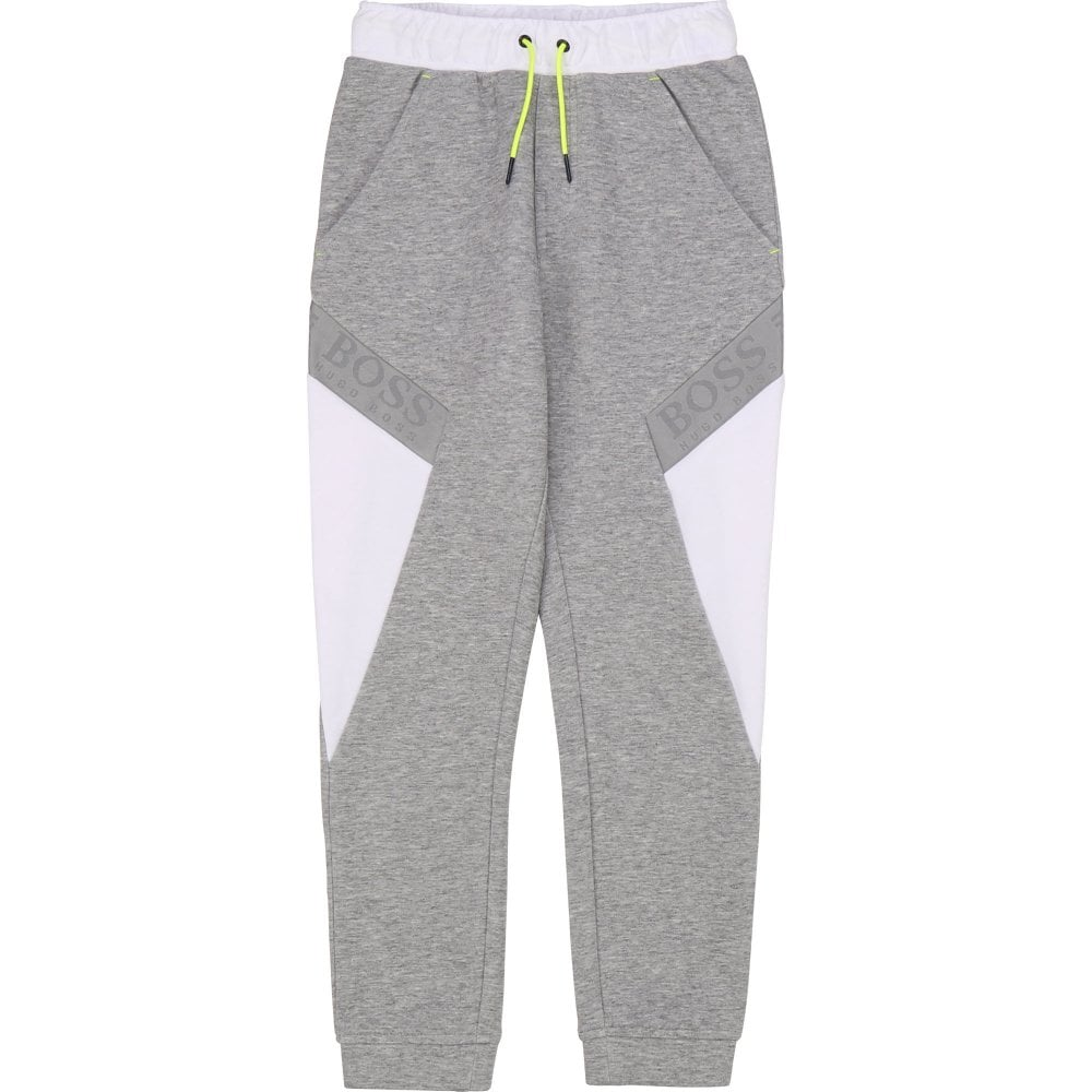 Hugo Boss Boss Cotton Joggers Colour: GREY, Size: 10 YEARS