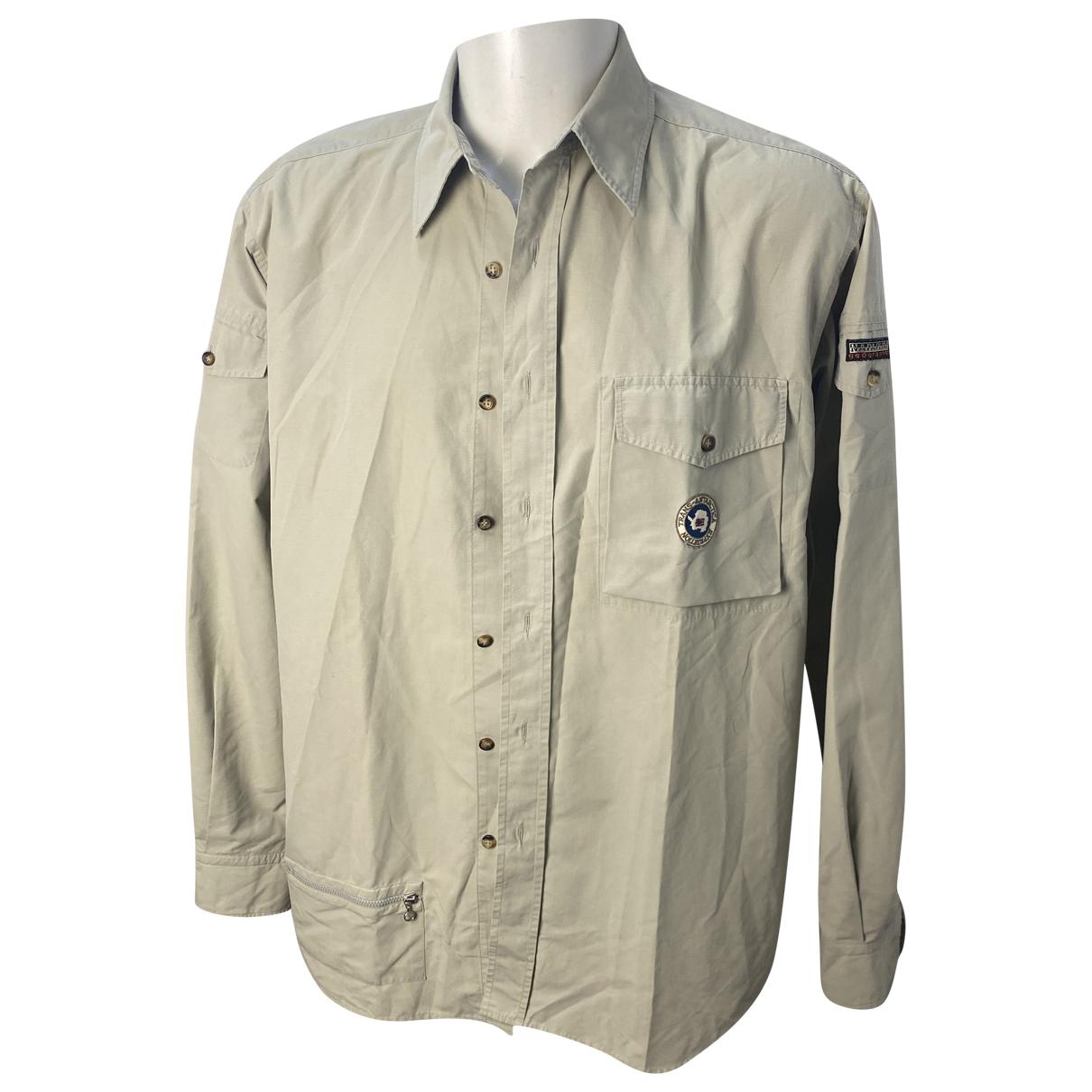 Napapijri - Chemises   pour homme en coton - beige