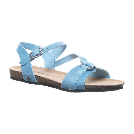 Bearpaw Womens Sandy Flat Sandals, 9 Medium, Blue