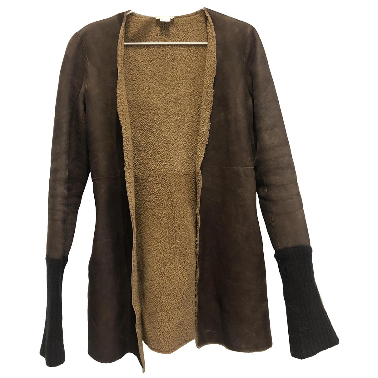 Helmut Lang - Veste   pour femme en cuir - marron