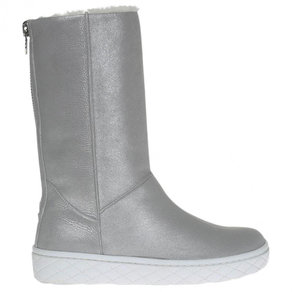 Moncler \N Stiefel in  Metallic Leder