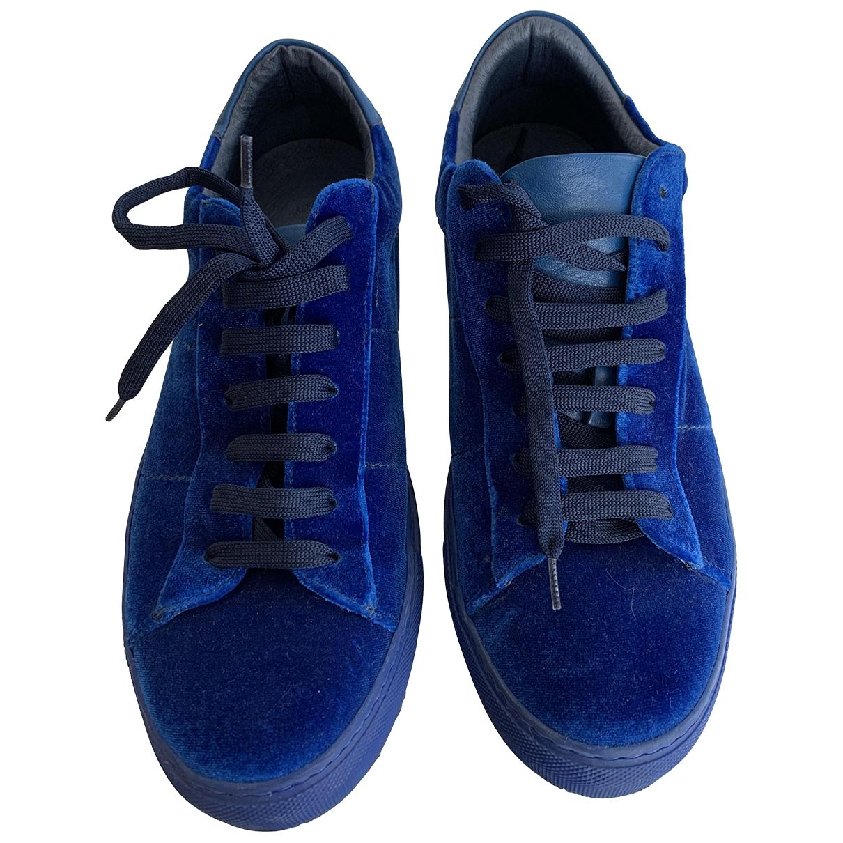 Dondup \N Blue Velvet Flats for Men 41 EU