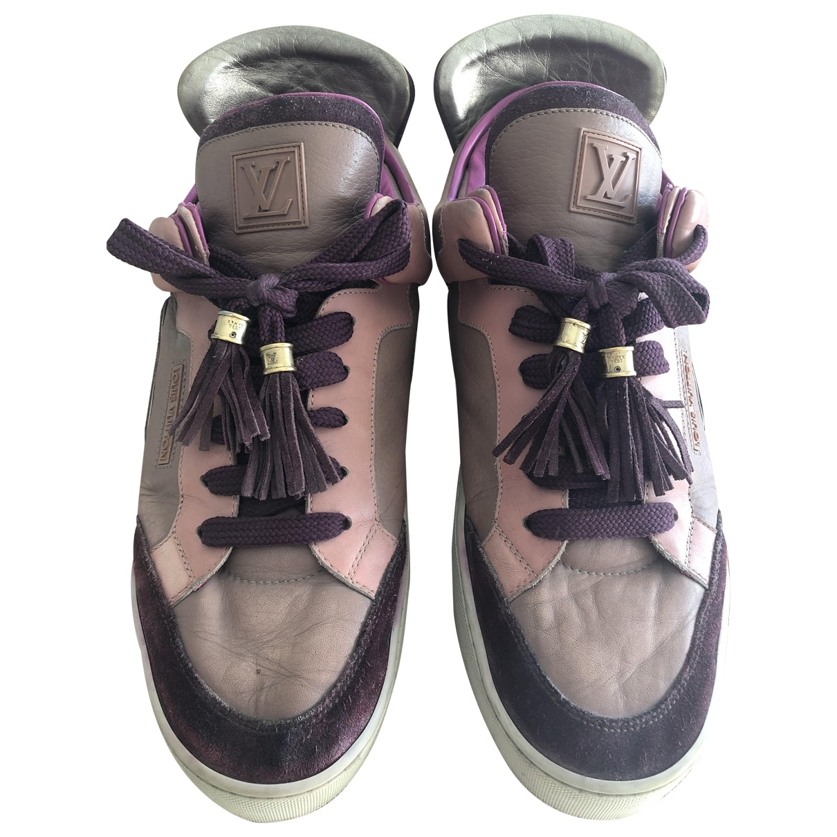 Louis Vuitton \N Pink Leather Trainers for Men 8.5 US