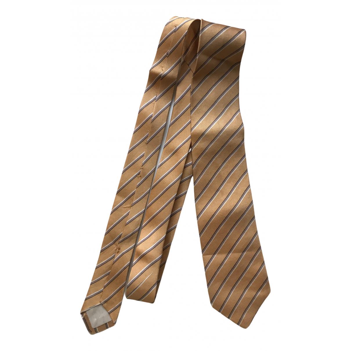 Yves Saint Laurent \N Krawatten in  Gelb Seide