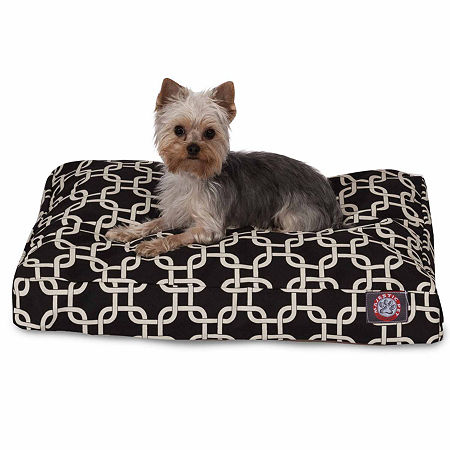 Majestic Pet Links Rectangle Pet Bed, One Size , Black