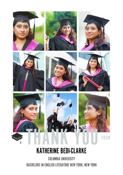 Graduation Thank You Cards 5x7 Cards, Premium Cardstock 120lb with Rounded Corners, Card & Stationery -The Grad Event Squares Thank You