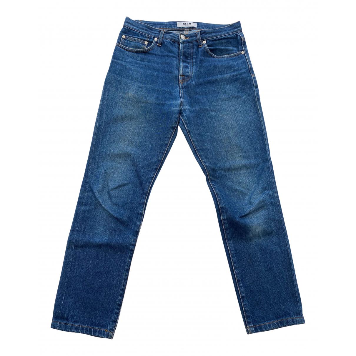 Msgm N Blue Denim - Jeans Trousers for Men 44 IT
