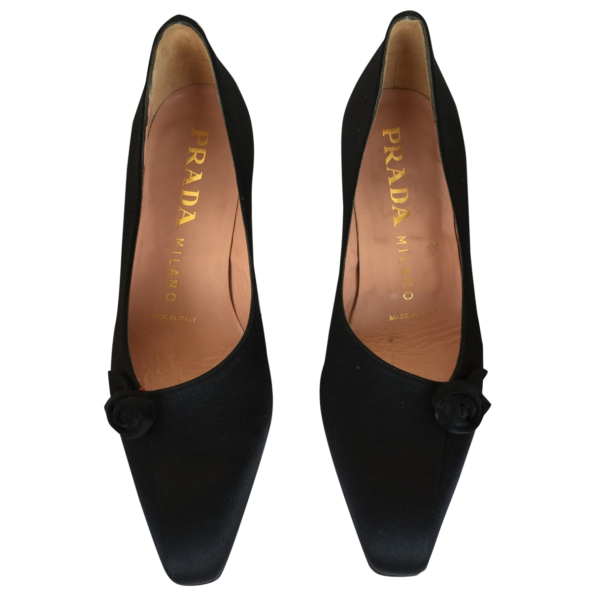 Prada \N Pumps in  Schwarz Leinen