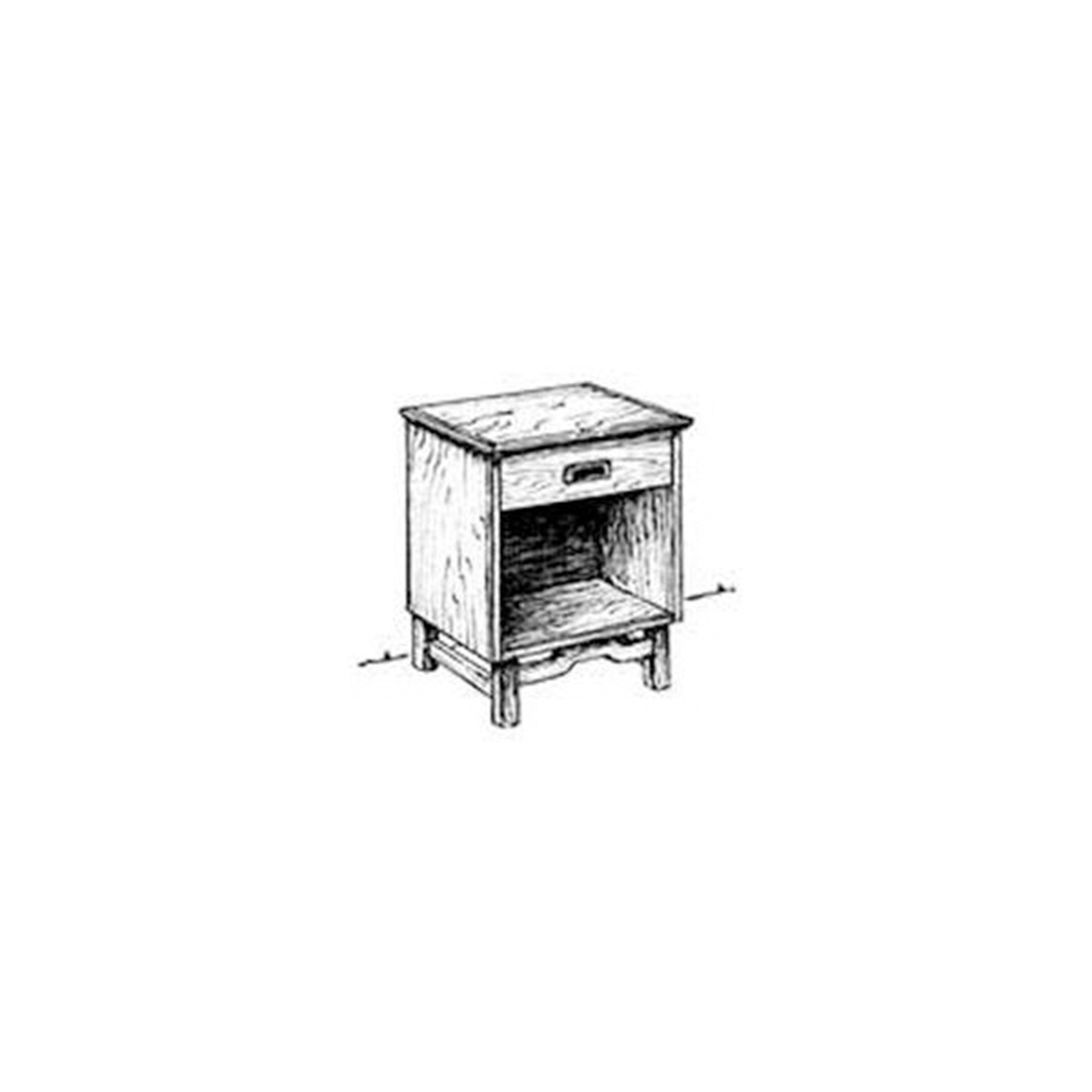 Woodworking Project Paper Plan to Build Simple Nightstand