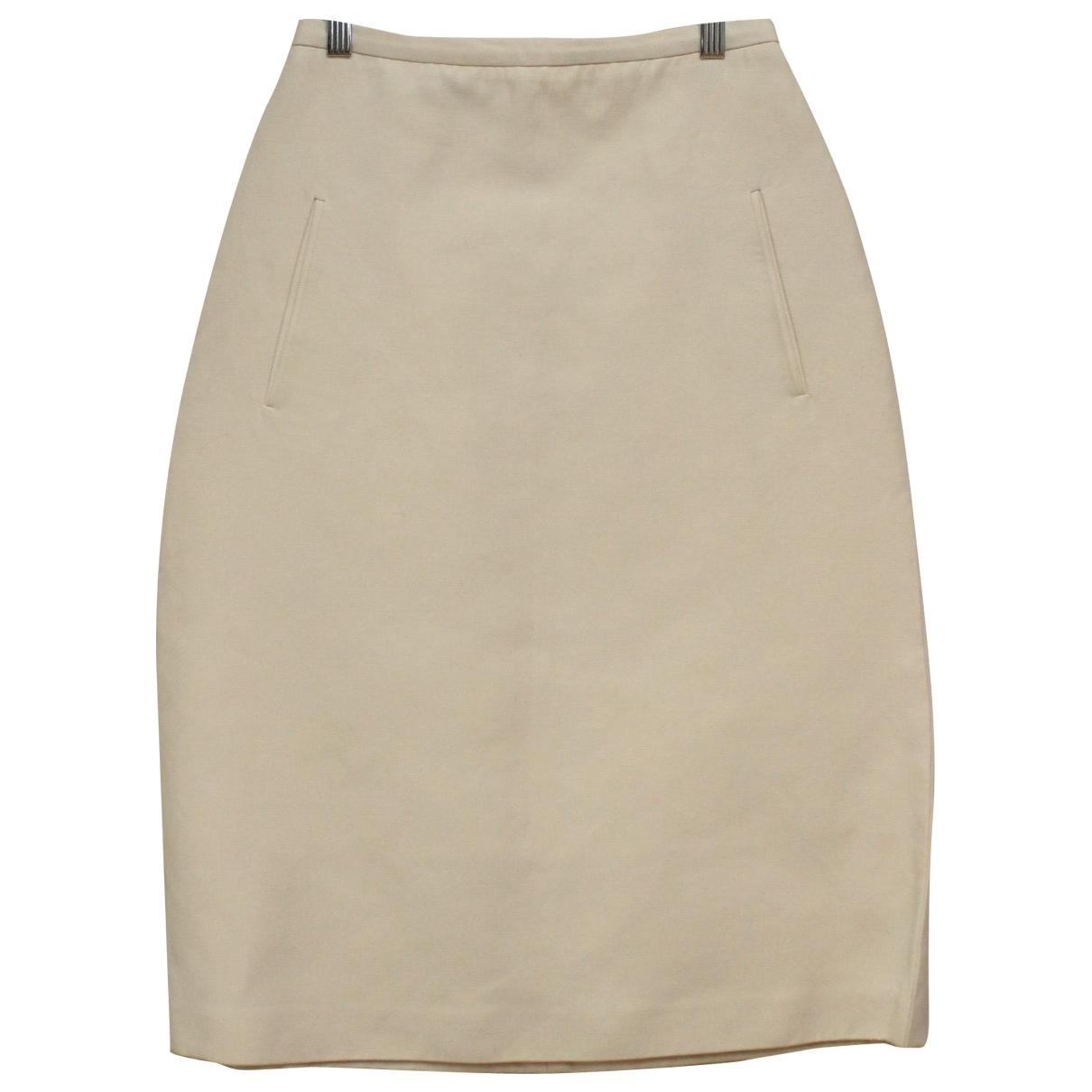 Rochas \N White Cotton skirt for Women 42 IT