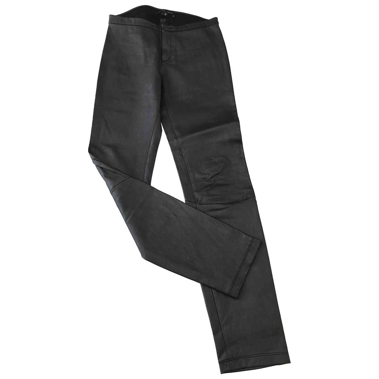 Theory N Metallic Leather Trousers for Women 4 US