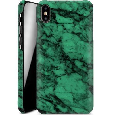Apple iPhone XS Max Smartphone Huelle - Green Marble von caseable Designs