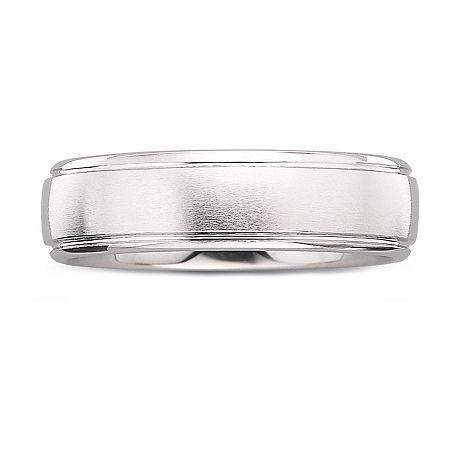 Mens 6mm Tungsten Carbide Ring, 11 1/2 , No Color Family