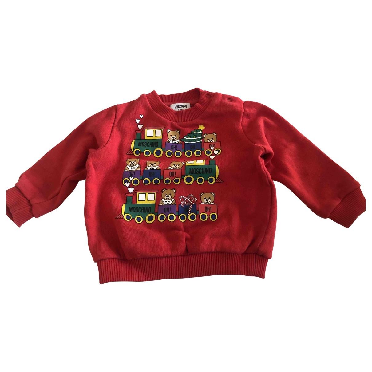 Moschino - Pull   pour enfant en coton - rouge