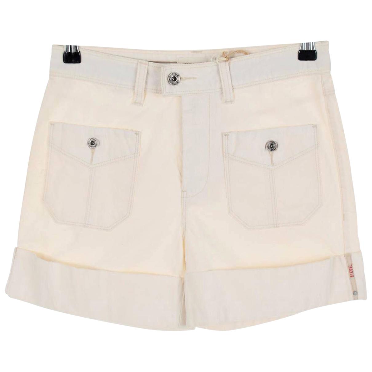 Diesel \N Ecru Cotton Shorts for Women XS International