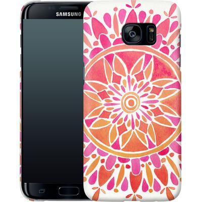 Samsung Galaxy S7 Edge Smartphone Huelle - Mandala Pink Ombre von Cat Coquillette