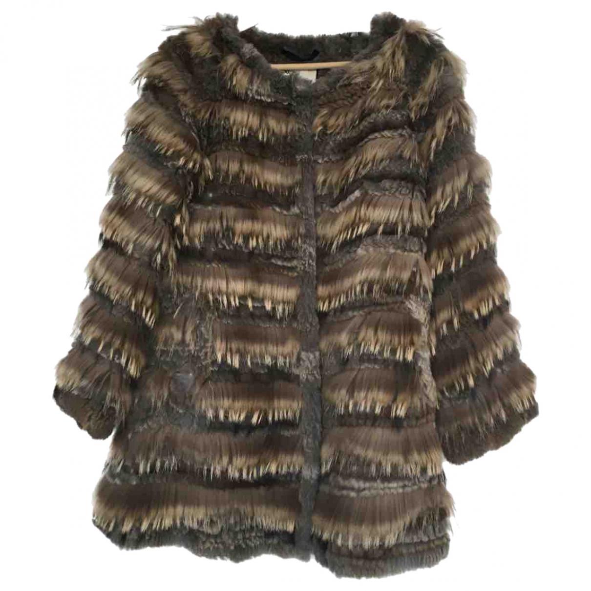 Max & Moi - Manteau   pour femme en racoon - marron