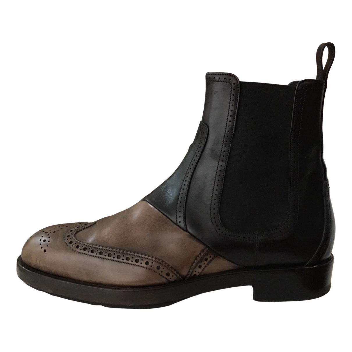 Pierre Hardy - Boots   pour femme en cuir - noir