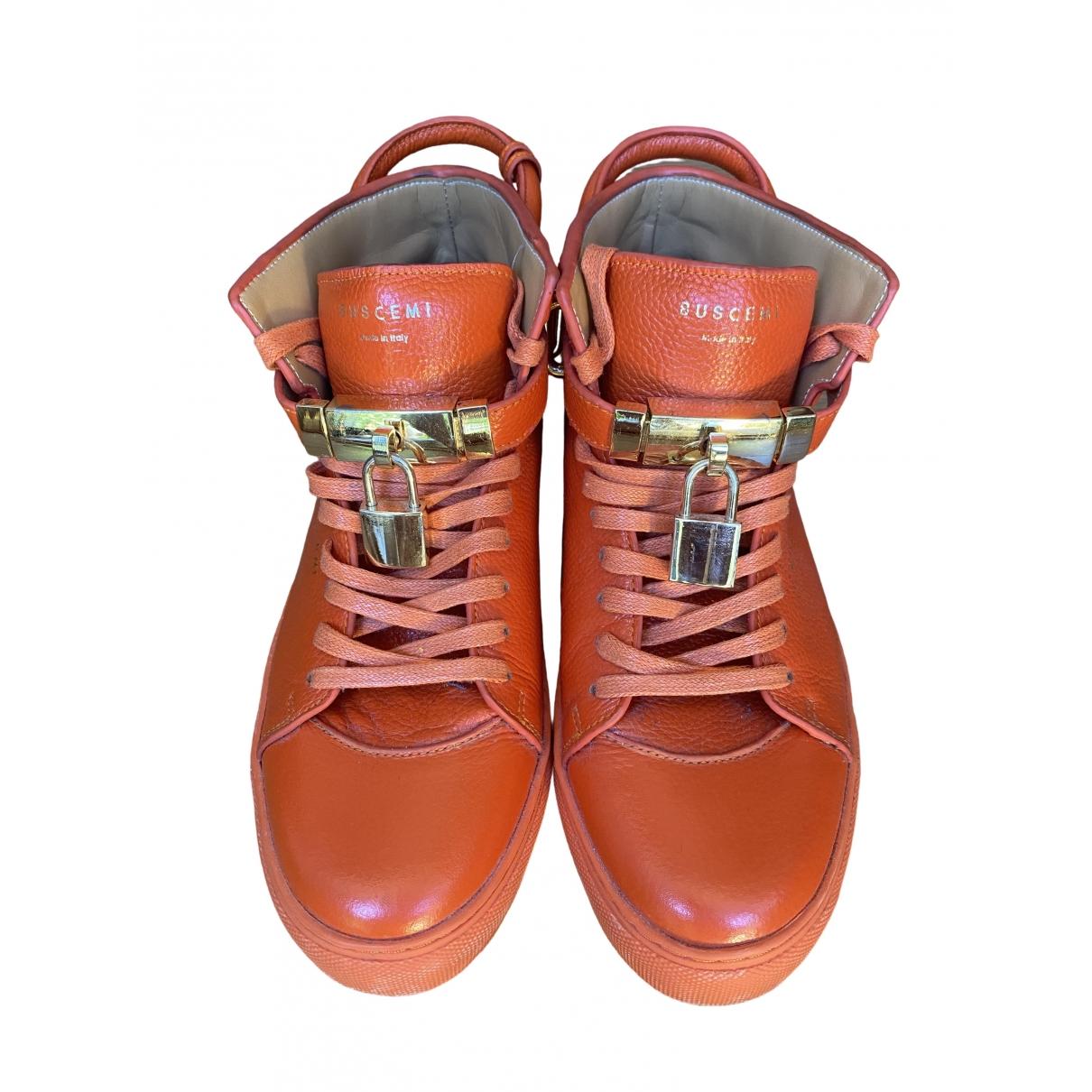 Buscemi \N Stiefel in  Orange Leder