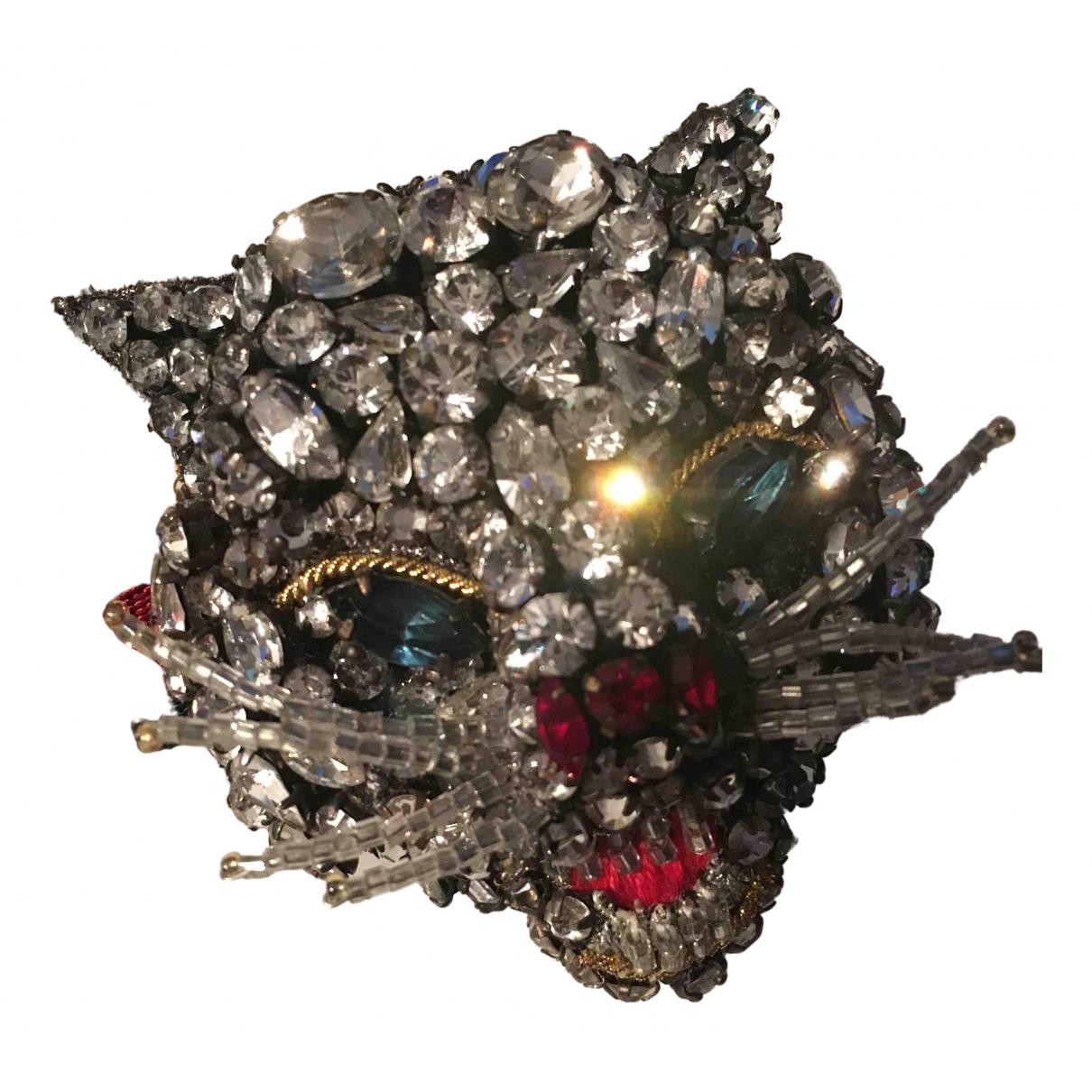 Gucci - Bracelet   pour femme en cristal - metallise