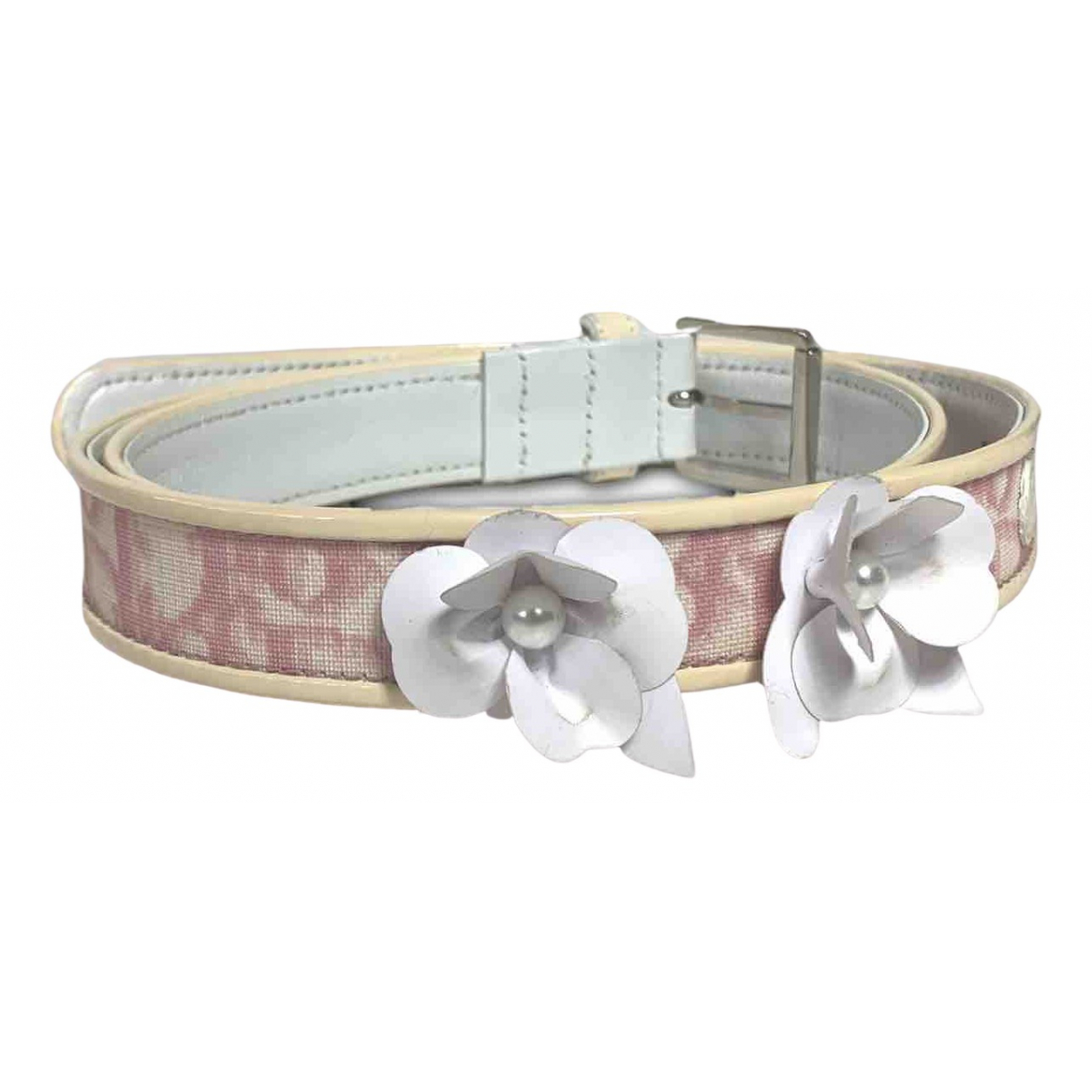 Dior N Pink Cloth belt for Women 29 Inches