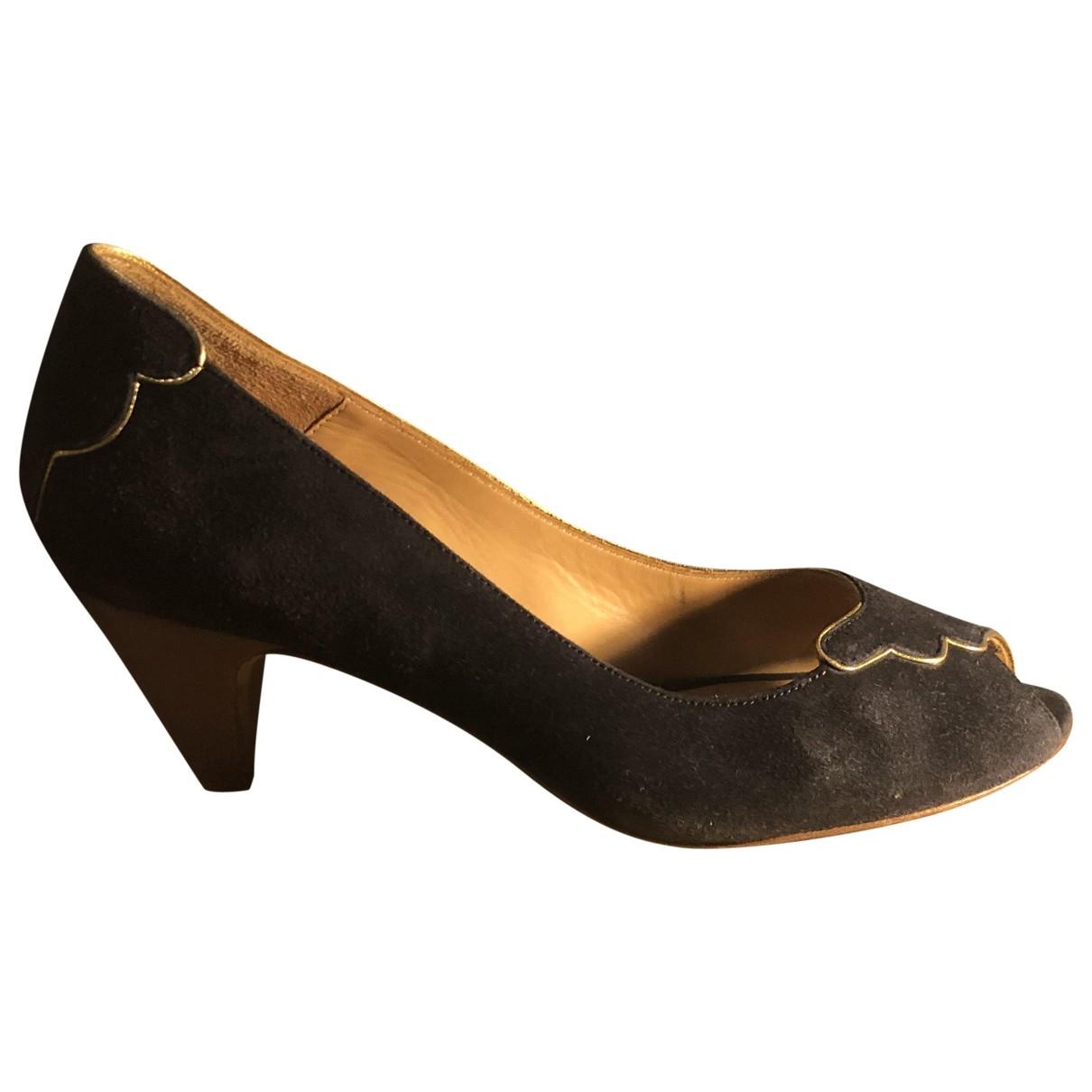 Des Petits Hauts \N Blue Leather Heels for Women 36 EU