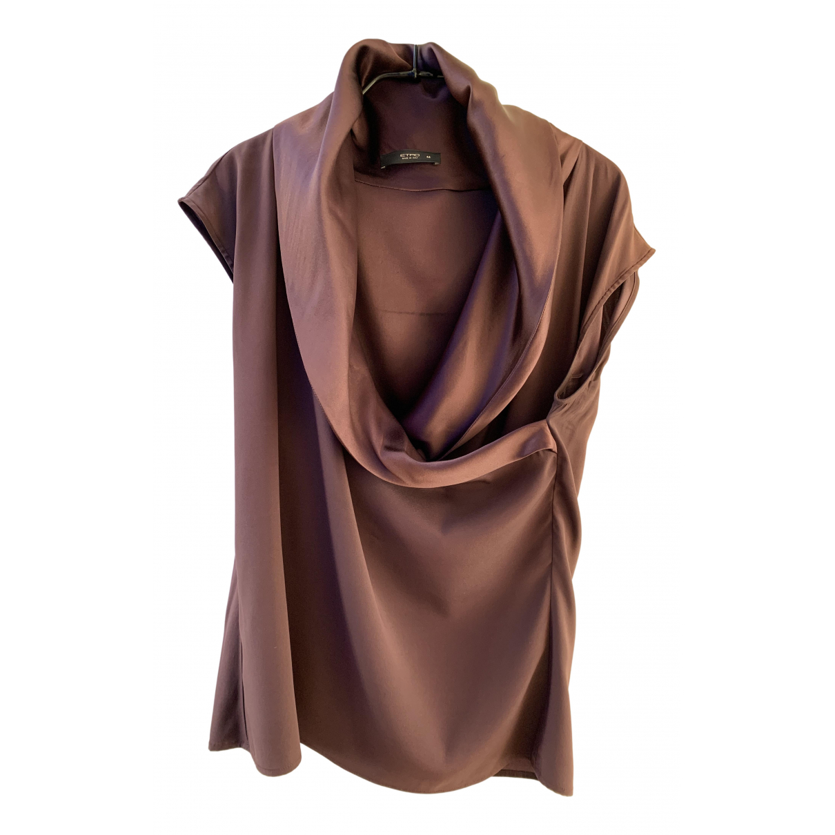 Etro N Burgundy Silk  top for Women 44 IT