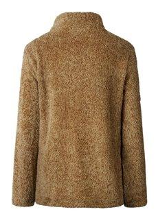 High Collar Long Sleeve Zipper Pure Color Thicken Coat