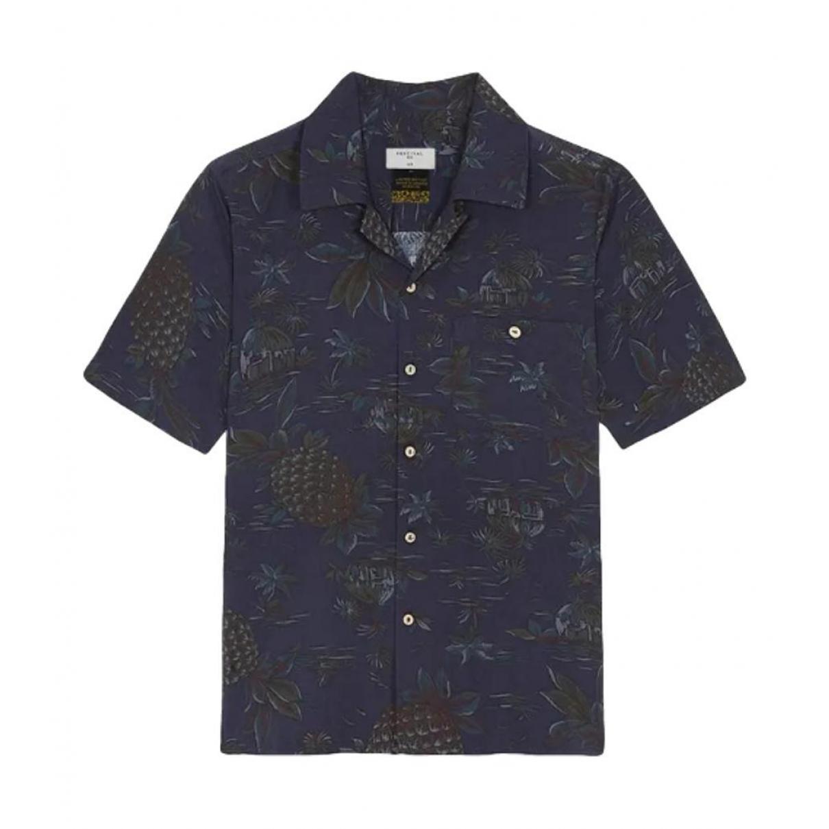 Non Signe / Unsigned \N Hemden in  Marine Baumwolle
