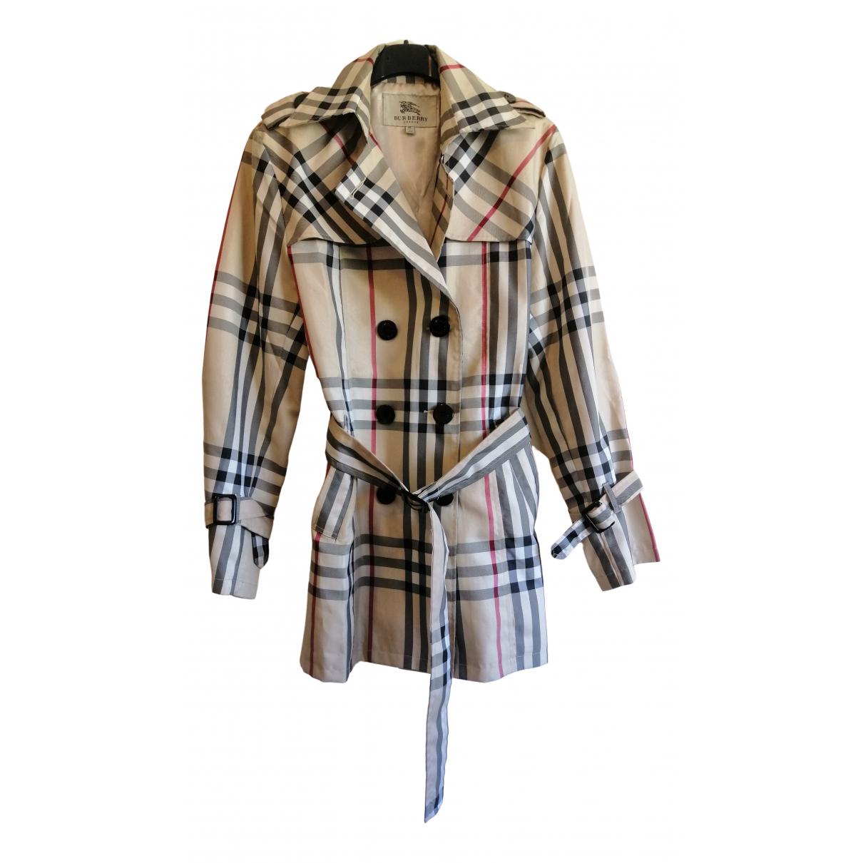 Burberry - Manteau   pour femme en coton - multicolore