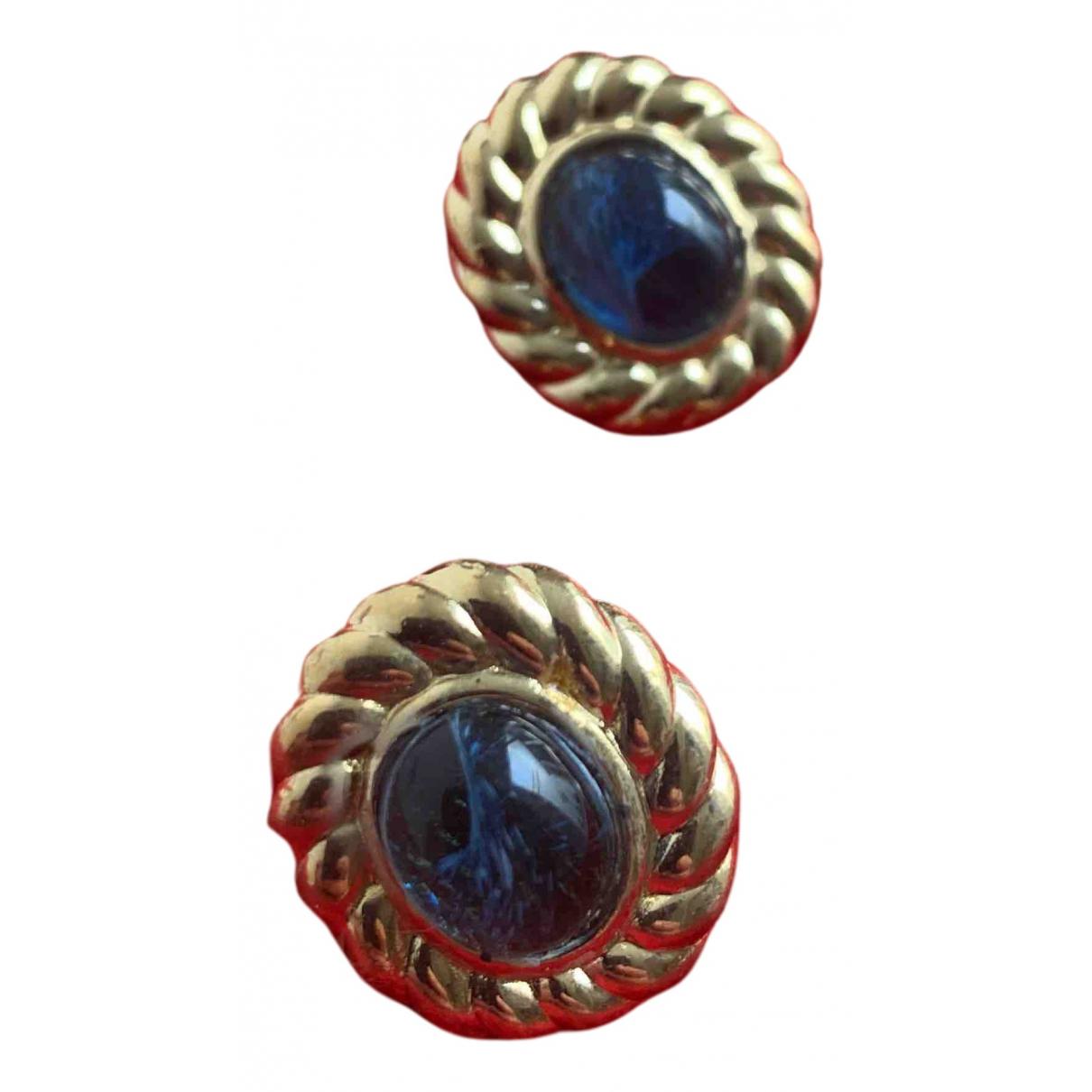 Dior N Gold Steel Earrings for Women N
