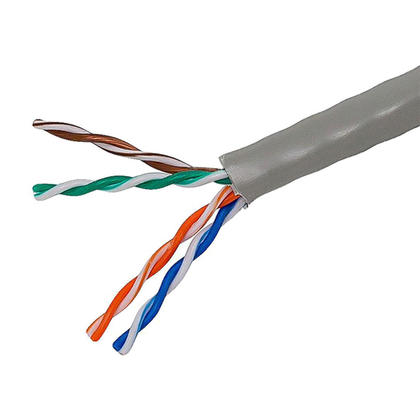 Cat5e 24AWG UTP Solid Bulk Cable, CMR-Rated, 1000ft - Monoprice® - Gray