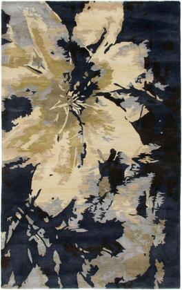 HIGHD284000570305 Highland HD2840-3' x 5' Hand-Tufted 100% Wool Rug in Navy  Rectangle