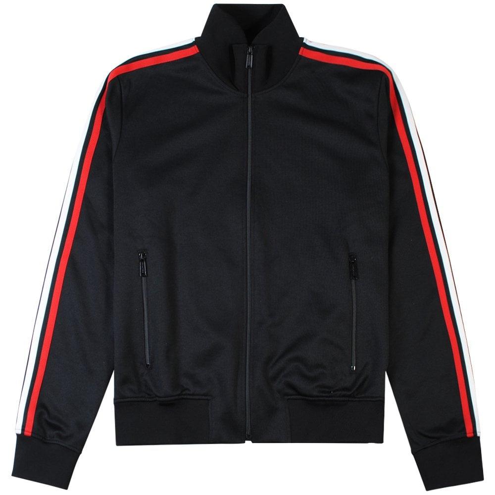 Dsquared2 Arm Stripe Zip Top Black Colour: BLACK, Size: EXTRA LARGE