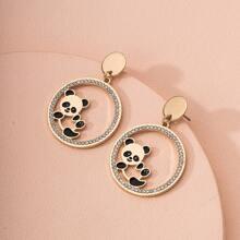 Ohrringe mit Panda Dekor