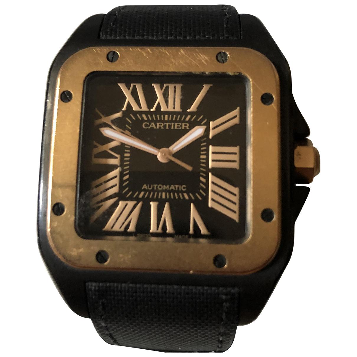 Cartier Santos 100 Black Ceramic watch for Men \N