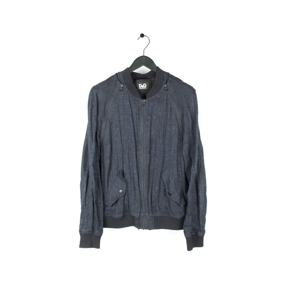 Dolce & Gabbana \N Blue Linen jacket  for Men L International