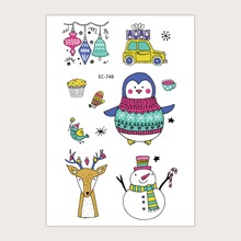 1pc Christmas Pattern Tattoo Sticker