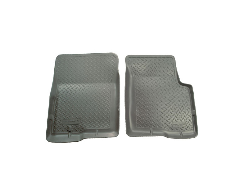 Husky Floor Liners Front 01-04 Toyota Tacoma Dbl Cab Classic Style-Grey