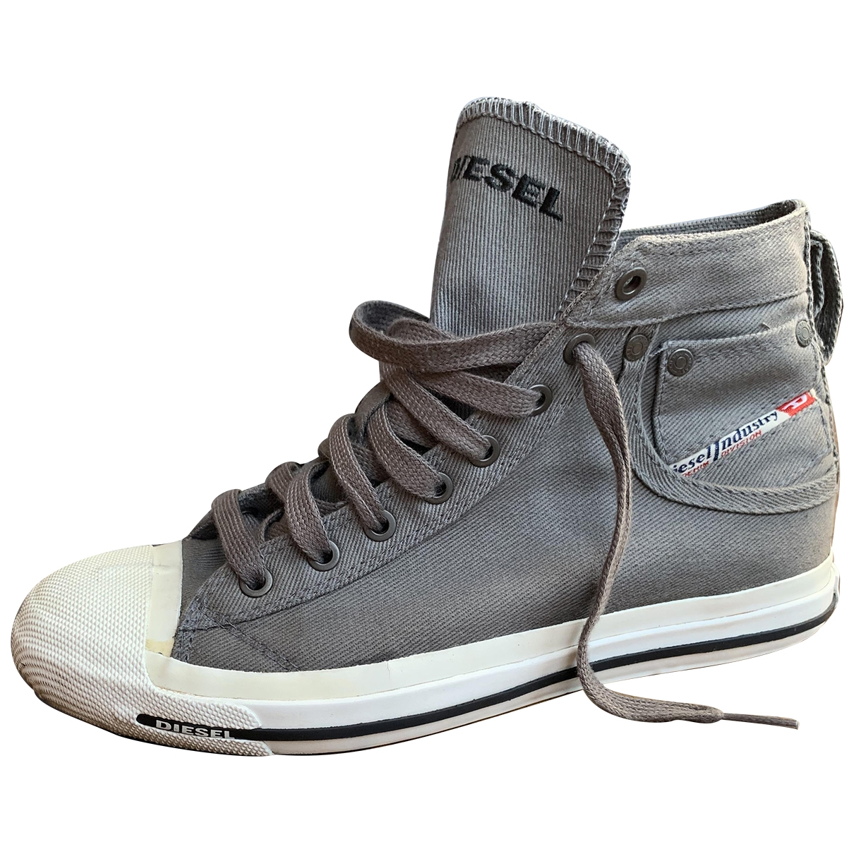 Diesel \N Anthracite Cloth Trainers for Women 40 EU