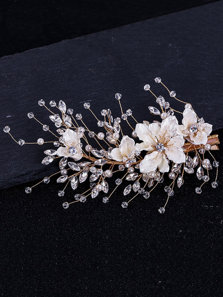 Milanoo Wedding Headpiece Headwear Flower Metal Hair Accessories For Bride