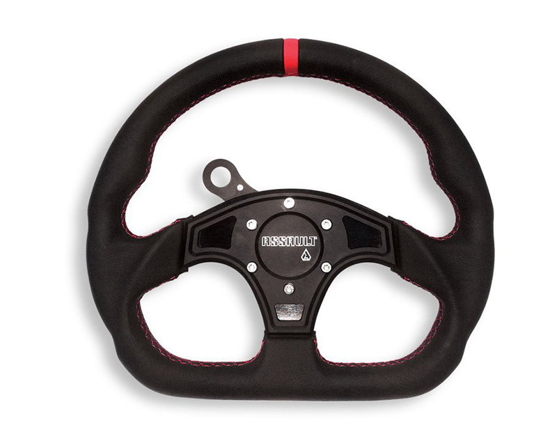 Assault Industries 100005SW0201 Ballistic D Leather Steering Wheel with Black Stitching Polaris RZR XP 4 1000