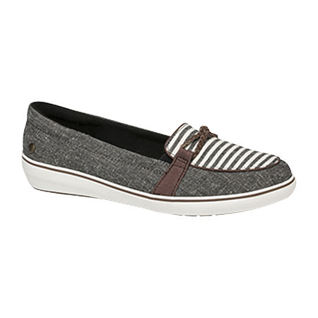 Grasshoppers Womens Windsor Slip-On Shoe, 6 1/2 Medium, Black