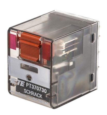 TE Connectivity , 230V ac Coil Non-Latching Relay 3PDT, 10A Switching Current PCB Mount, 3 Pole