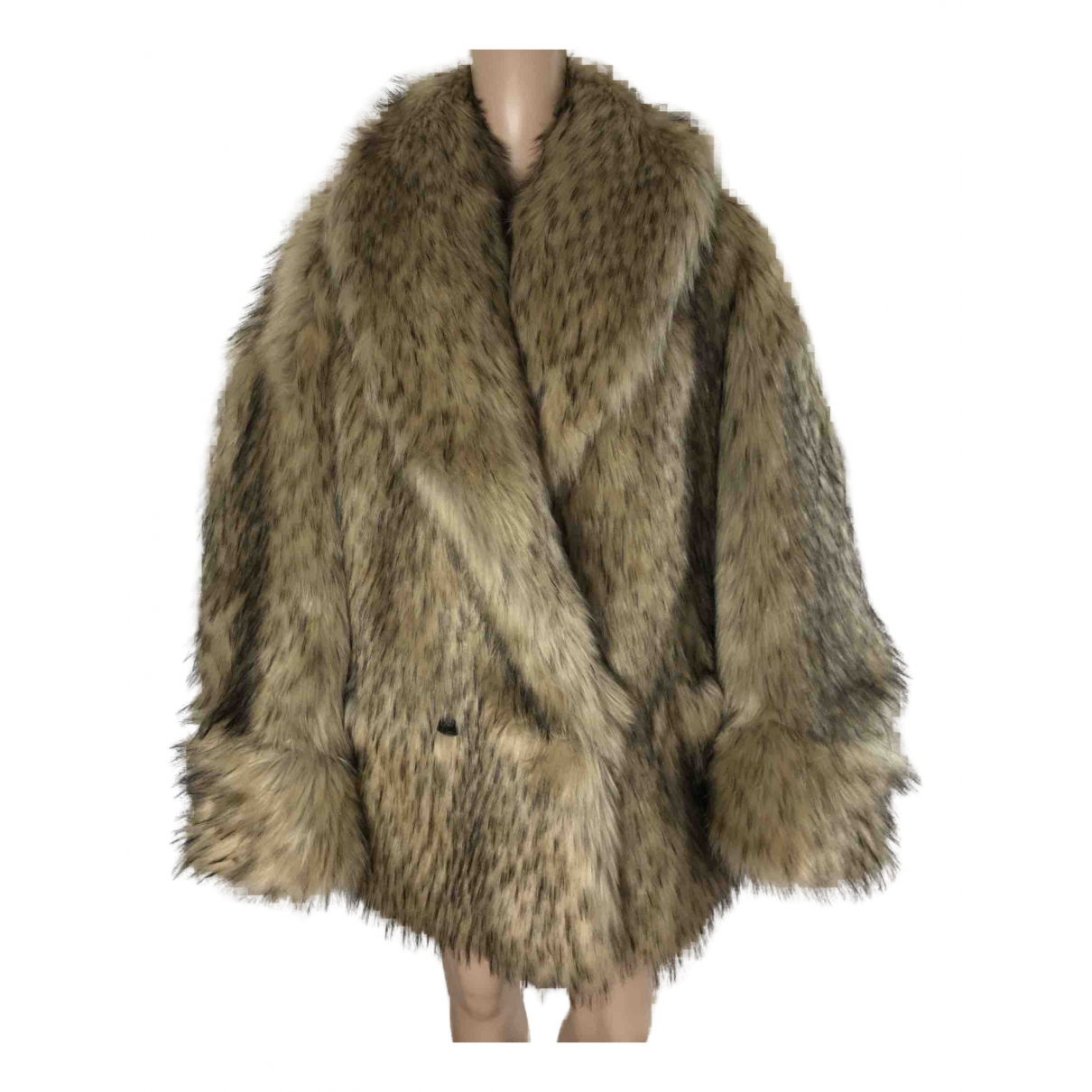 Gucci N Brown Faux fur jacket for Women 40 IT
